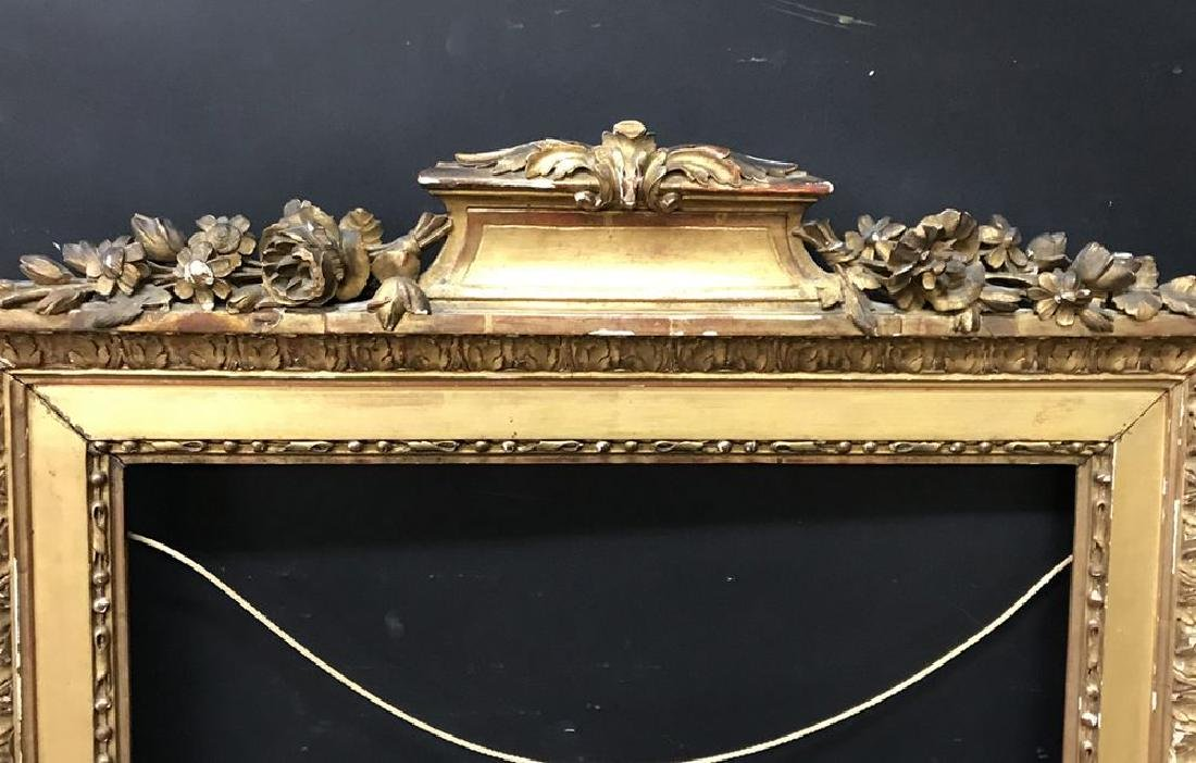 Late 18th Century French School. Carved Gilt Wood Frame
