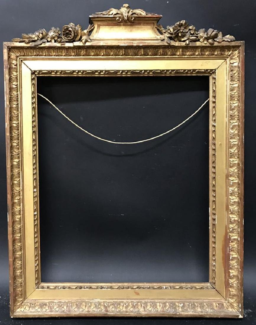 Late 18th Century French School. Carved Gilt Wood Frame - 2