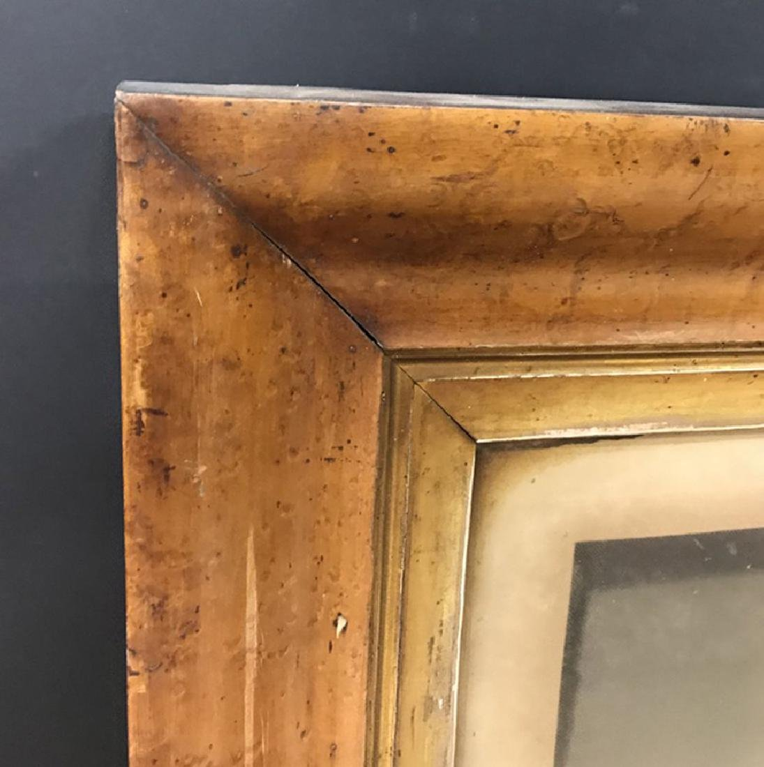 19th Century English School. A Maple Frame with a Gilt