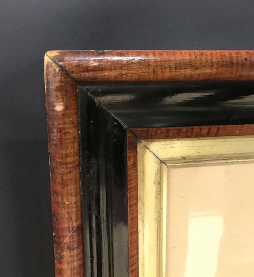19th Century English School. A Mahogany and Ebony Frame