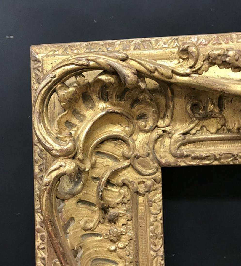 20th Century English School. A Carved Giltwood Swept