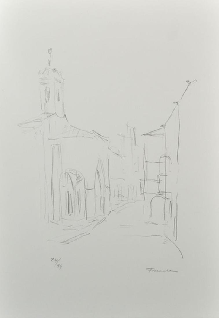 20th Century Spanish School. A Street Scene,