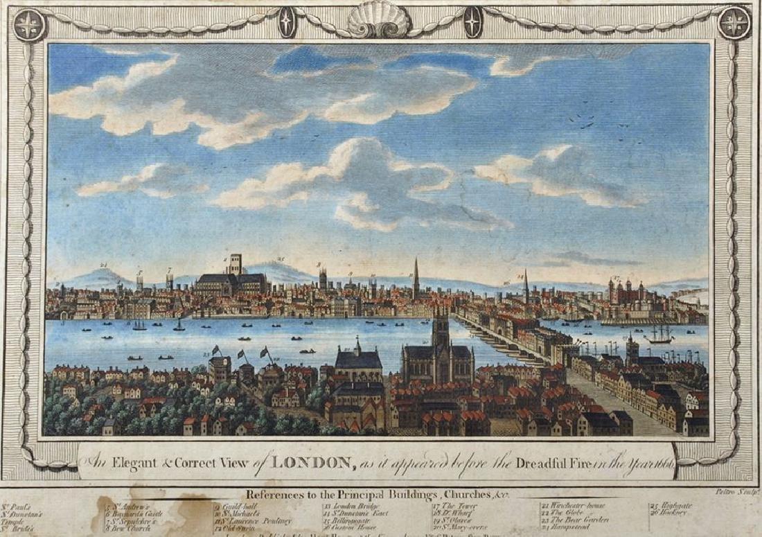 "18th Century English School. ""An Elegant & Correct View"