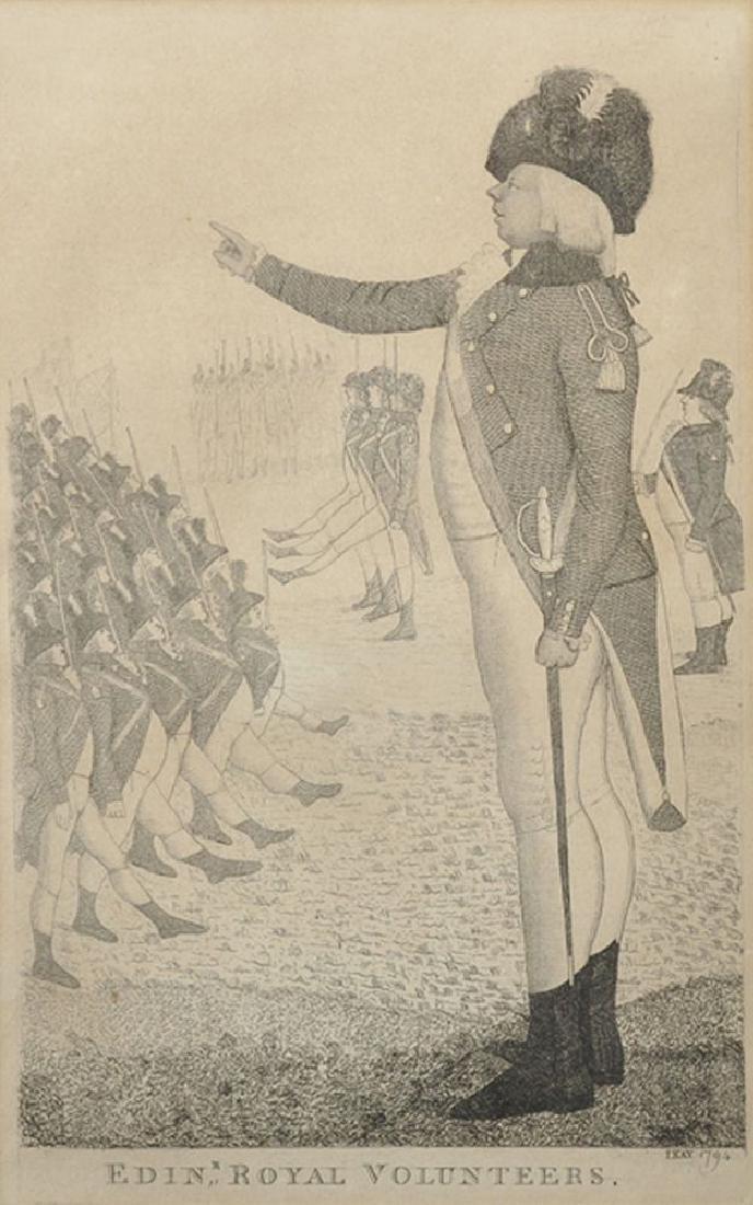 """John Kay (1742-1826) British. """"Edinburgh Royal"""