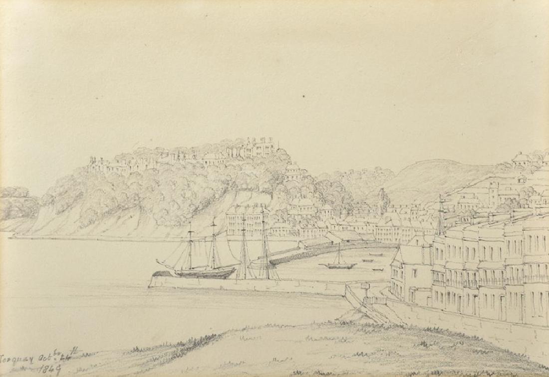 "19th Century English School. ""Torquay"", View of the"