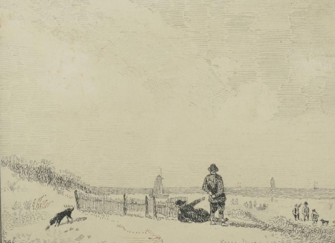 20th Century Dutch School. Figures on a Beach with