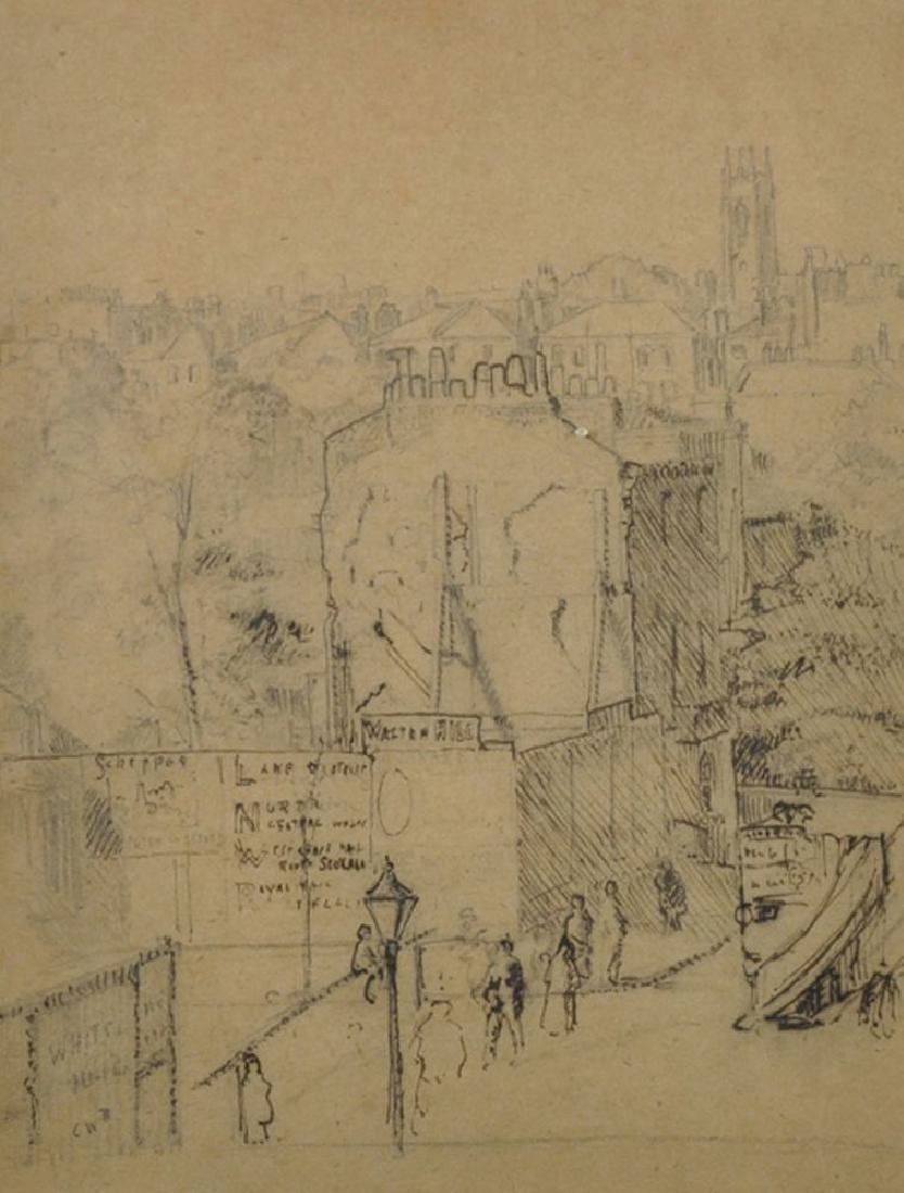 19th Century English School. A British Street Scene,