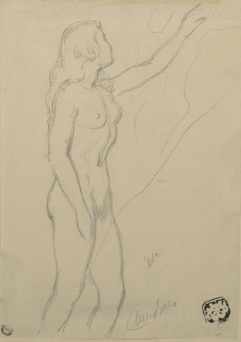 20th Century French School. Study of a Naked Lady,