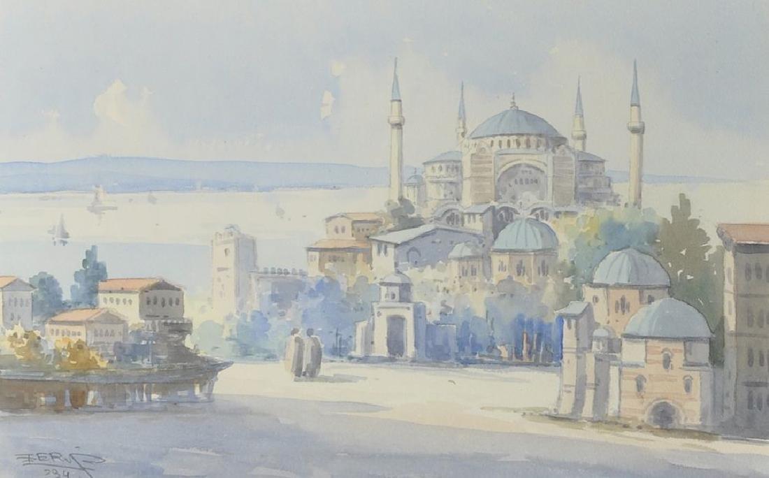 """Ro Cherif (20th Century) Turkish. """"View of the"""