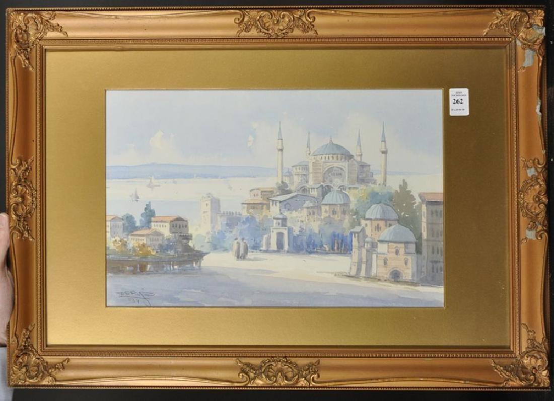 """Ro Cherif (20th Century) Turkish. """"View of the - 2"""