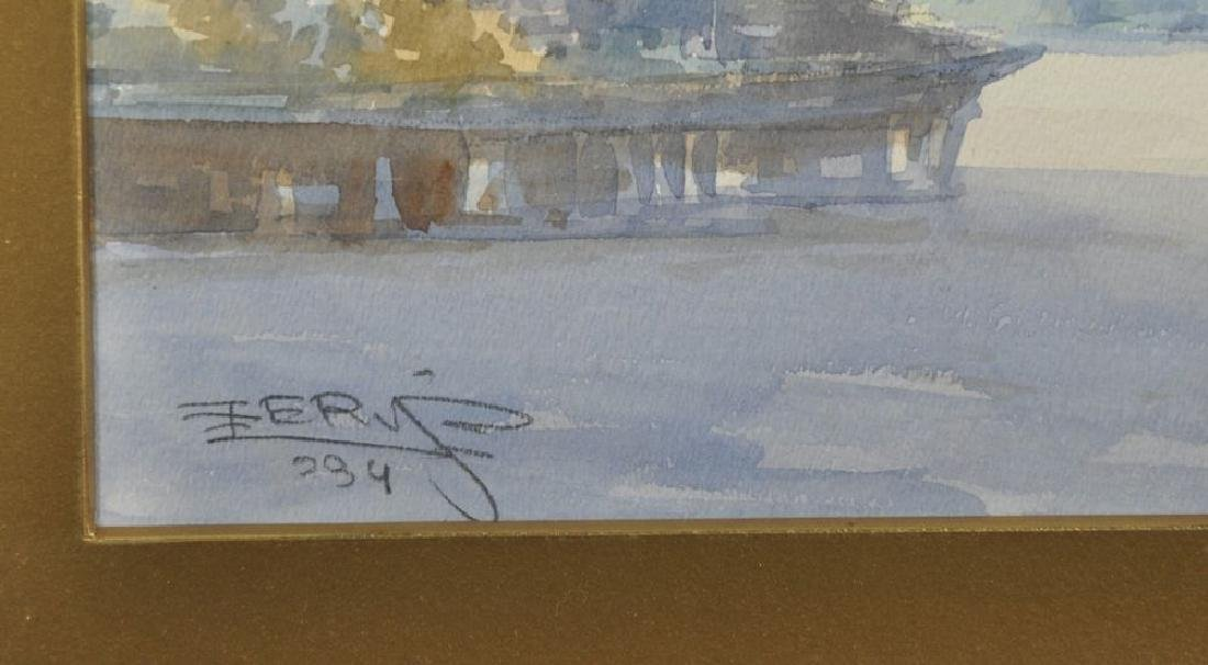 """Ro Cherif (20th Century) Turkish. """"View of the - 3"""