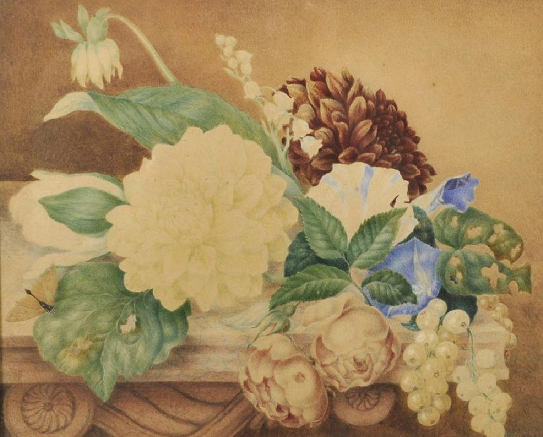 19th Century English School. Still Life with Flowers