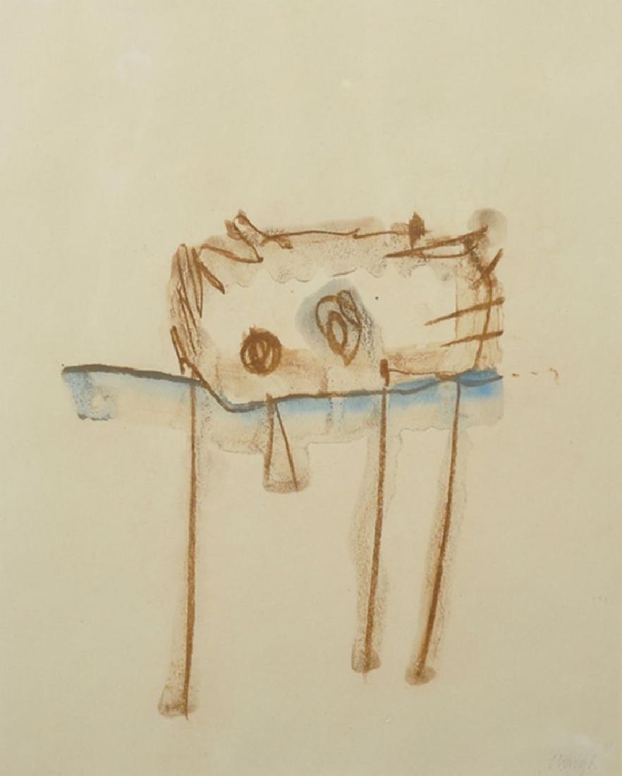 """Prunella Clough (1919-1999) British. """"Garden Detail,"""