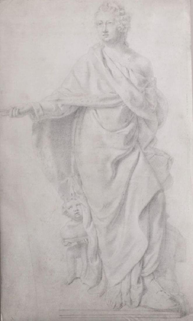 18th Century European School. Study of a Statue, with a