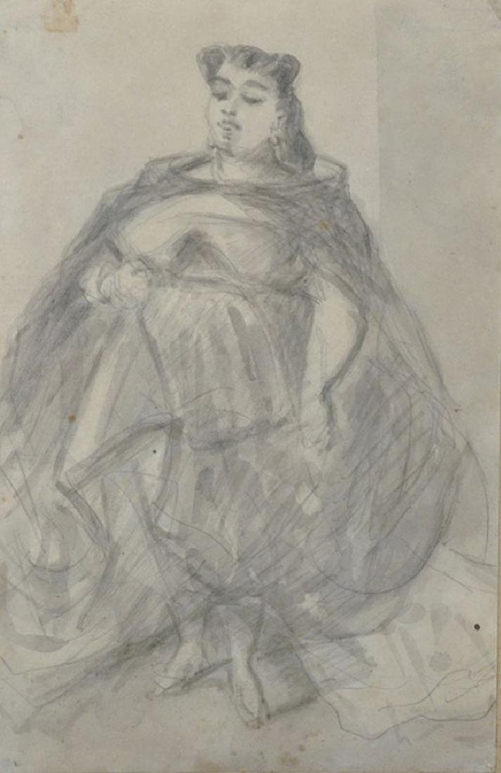 "Constantin Guys (1802/5-1892) Dutch/French. ""Standing"