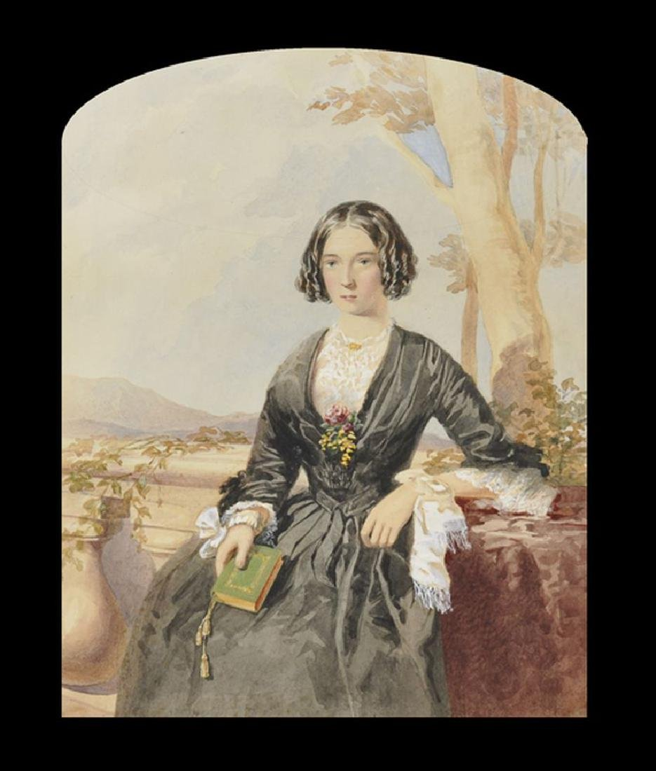 19th Century Australian School. Portrait of a Lady in a