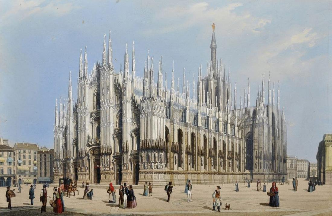 19th Century Italian School. 'Milan Cathedral', with