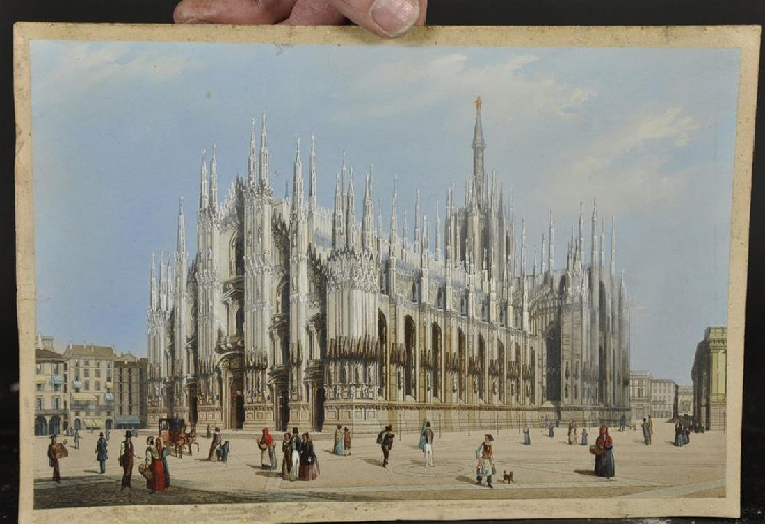 19th Century Italian School. 'Milan Cathedral', with - 2