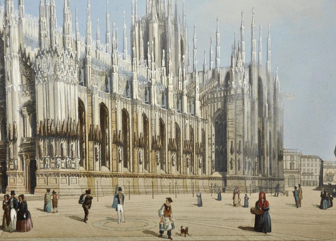 19th Century Italian School. 'Milan Cathedral', with - 4
