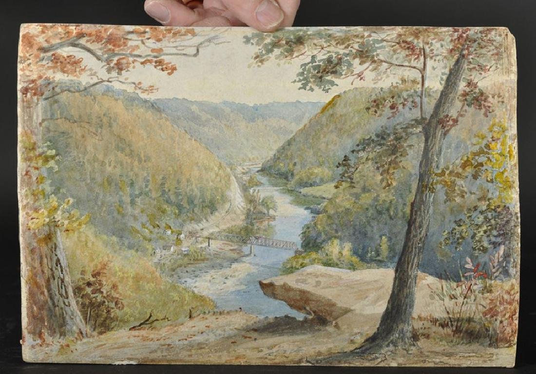 """Circle of Thomas Moran (1837-1926) American, """"View from - 2"""