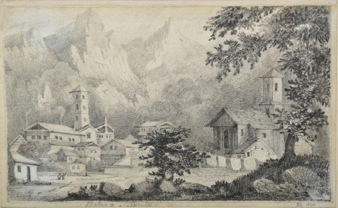 "19th Century Swiss School. ""Babia"", an Alpine View,"