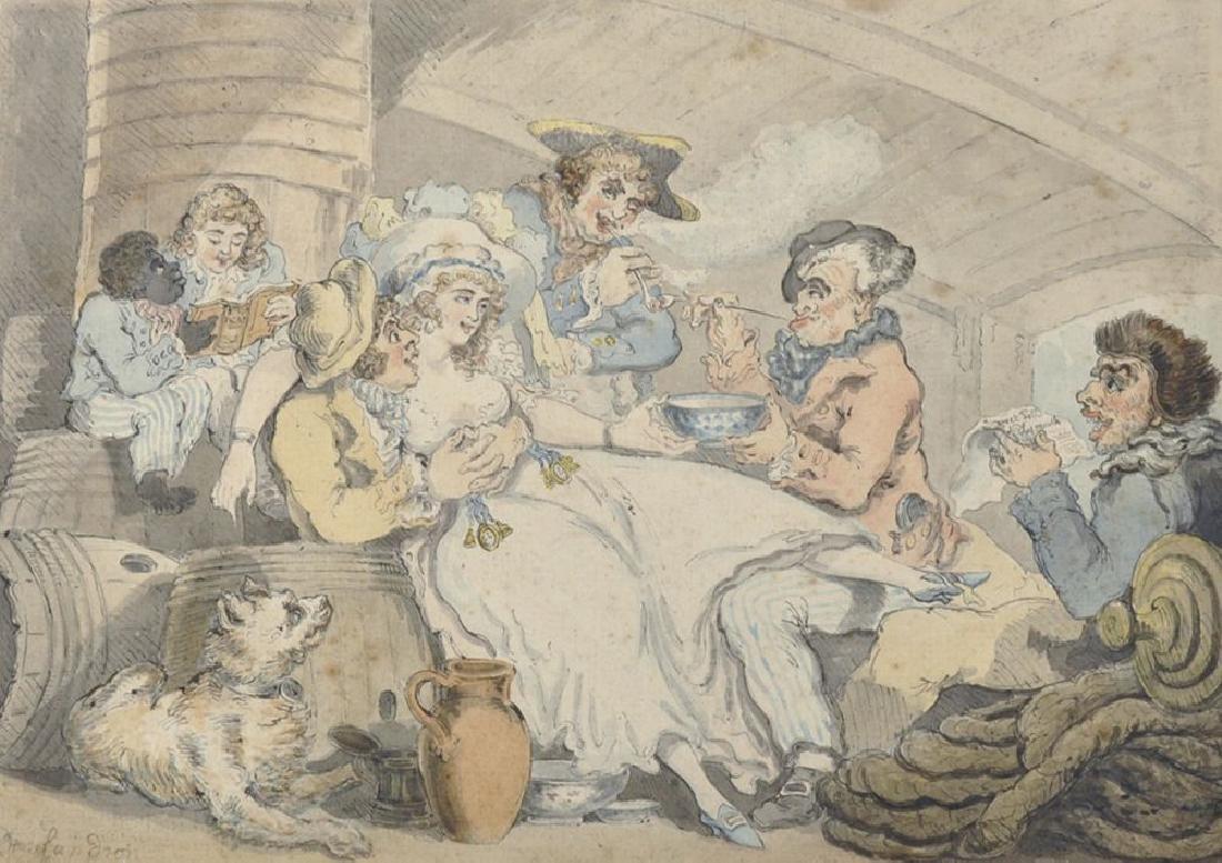 "Thomas Rowlandson (1756-1827) British. ""Grog on Board"","