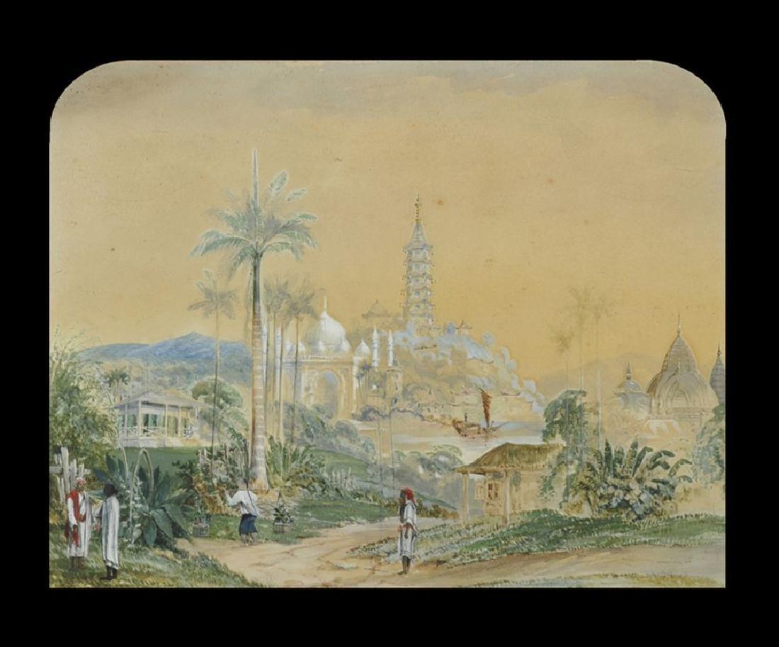 T...W...Thompson (19th Century) British. A Far Eastern