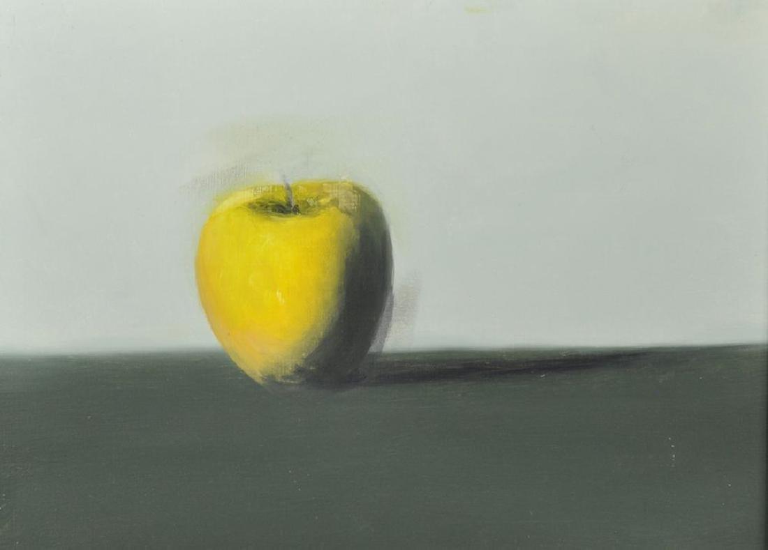 20th Century English School. Still Life of an Apple,