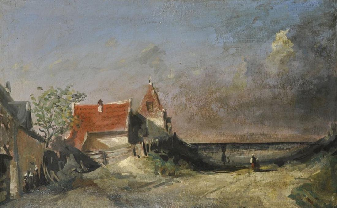 20th Century Dutch School. Figures walking on a Country