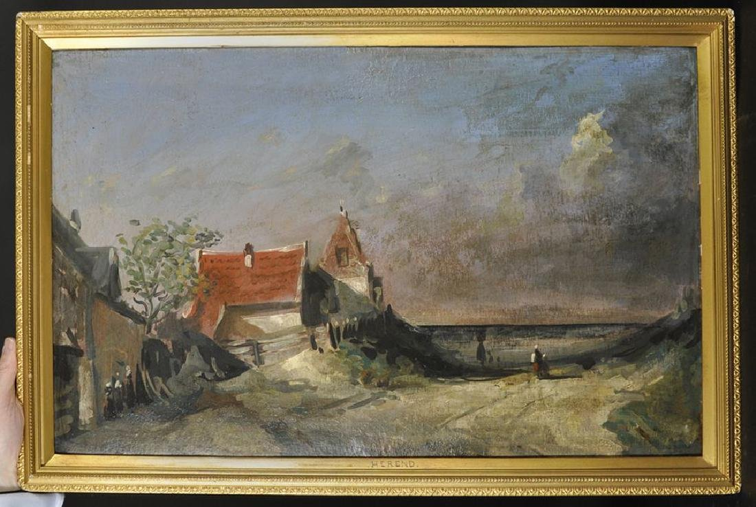 20th Century Dutch School. Figures walking on a Country - 2