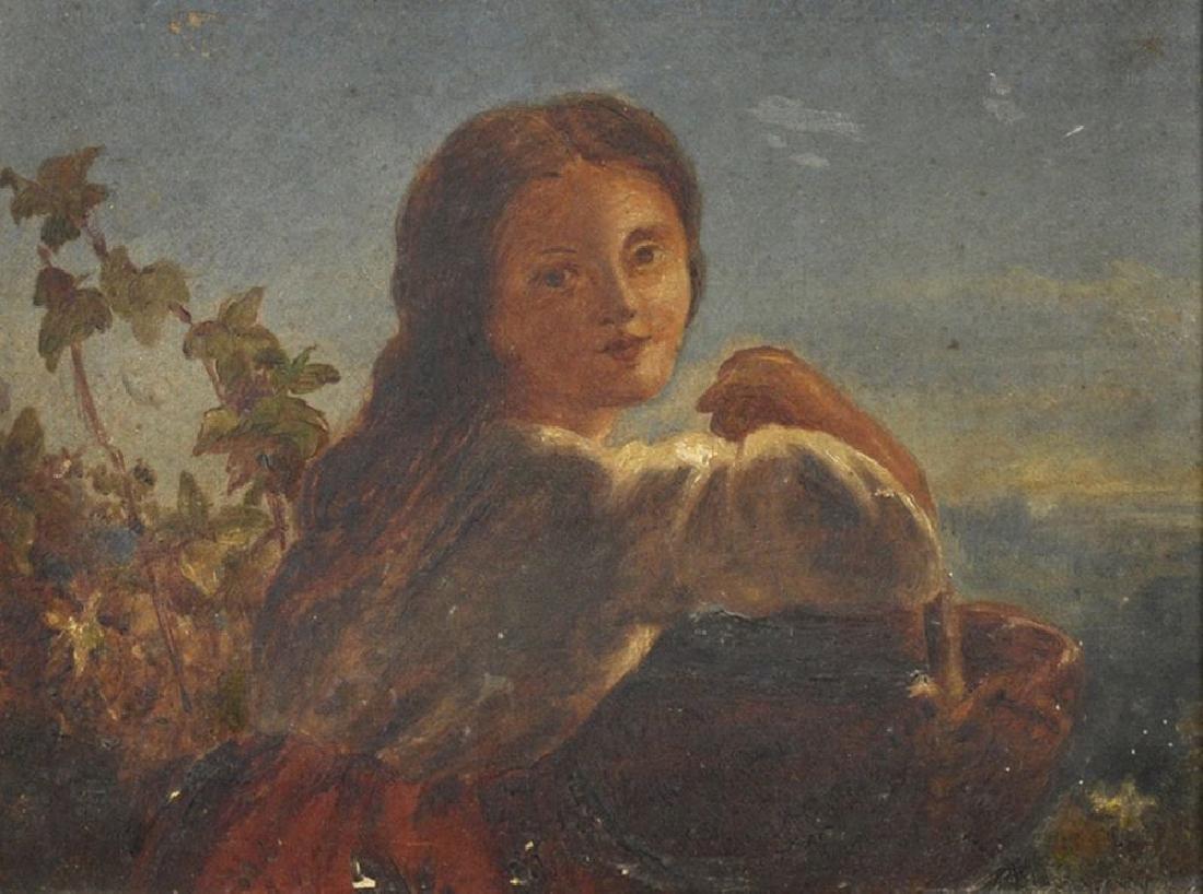 Circle of James John Hill (1811-1882) British. A Girl