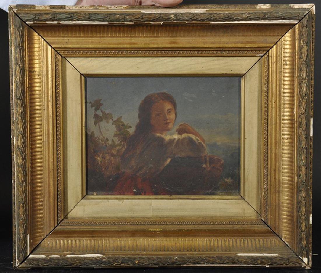 Circle of James John Hill (1811-1882) British. A Girl - 2