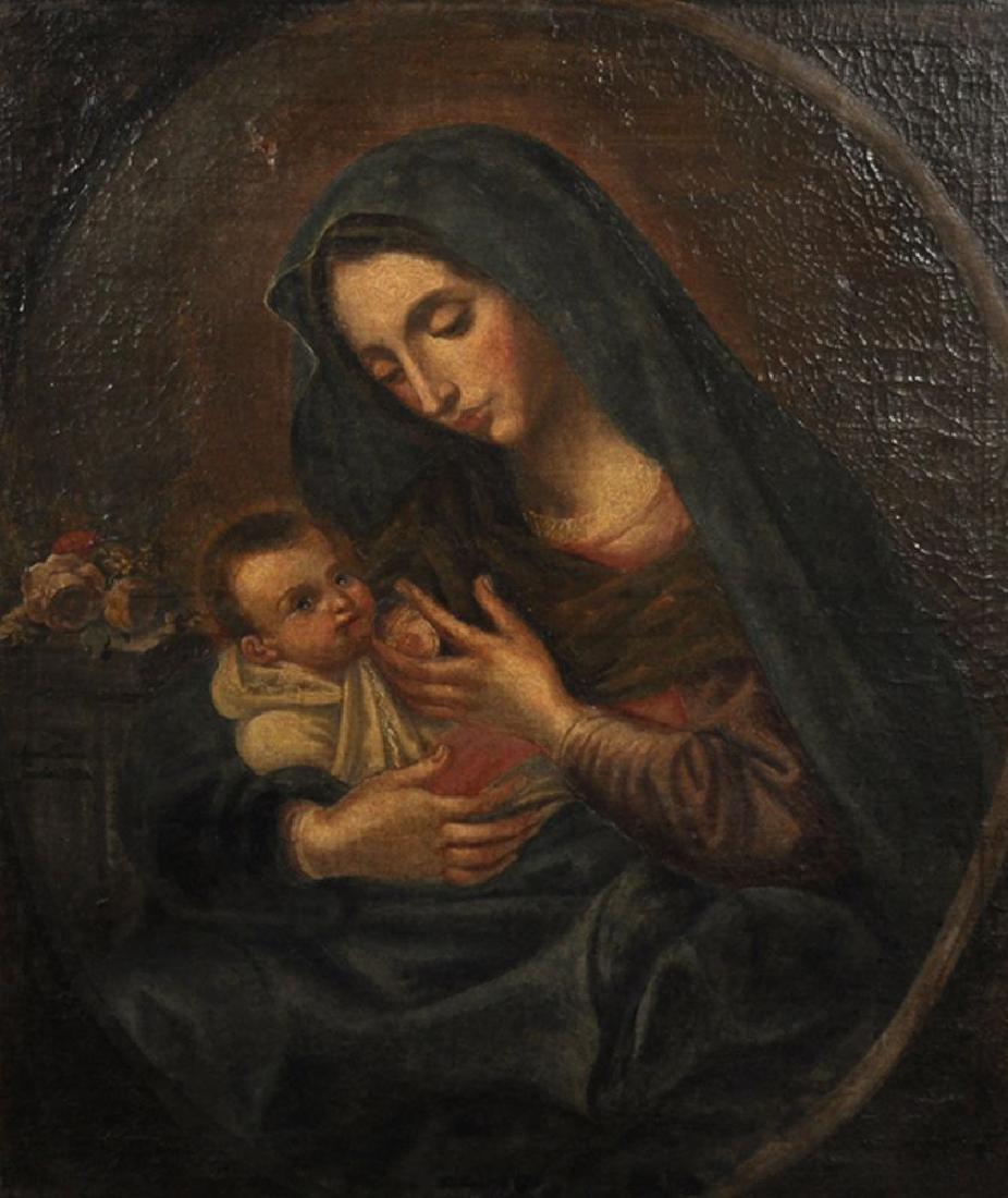 18th Century Italian School. A Mother and Child, in a