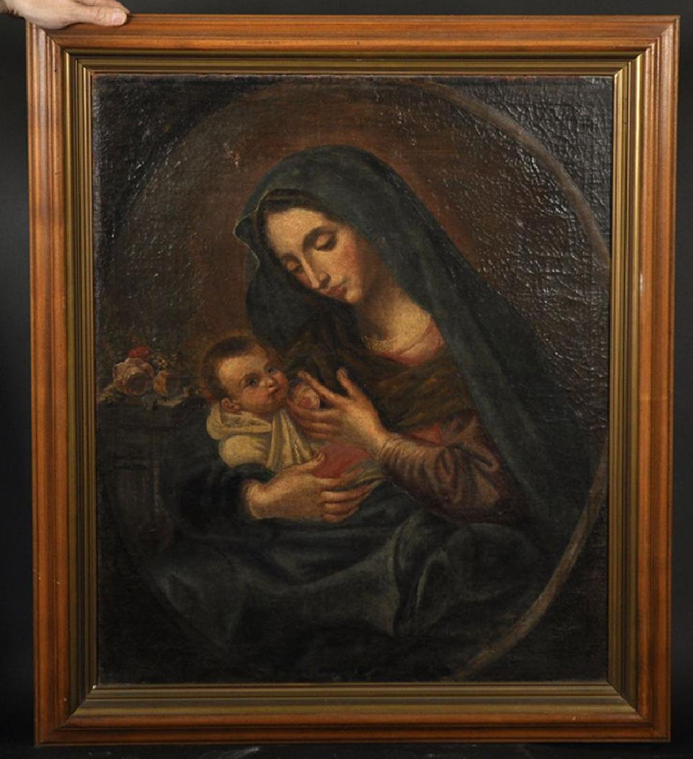 18th Century Italian School. A Mother and Child, in a - 2