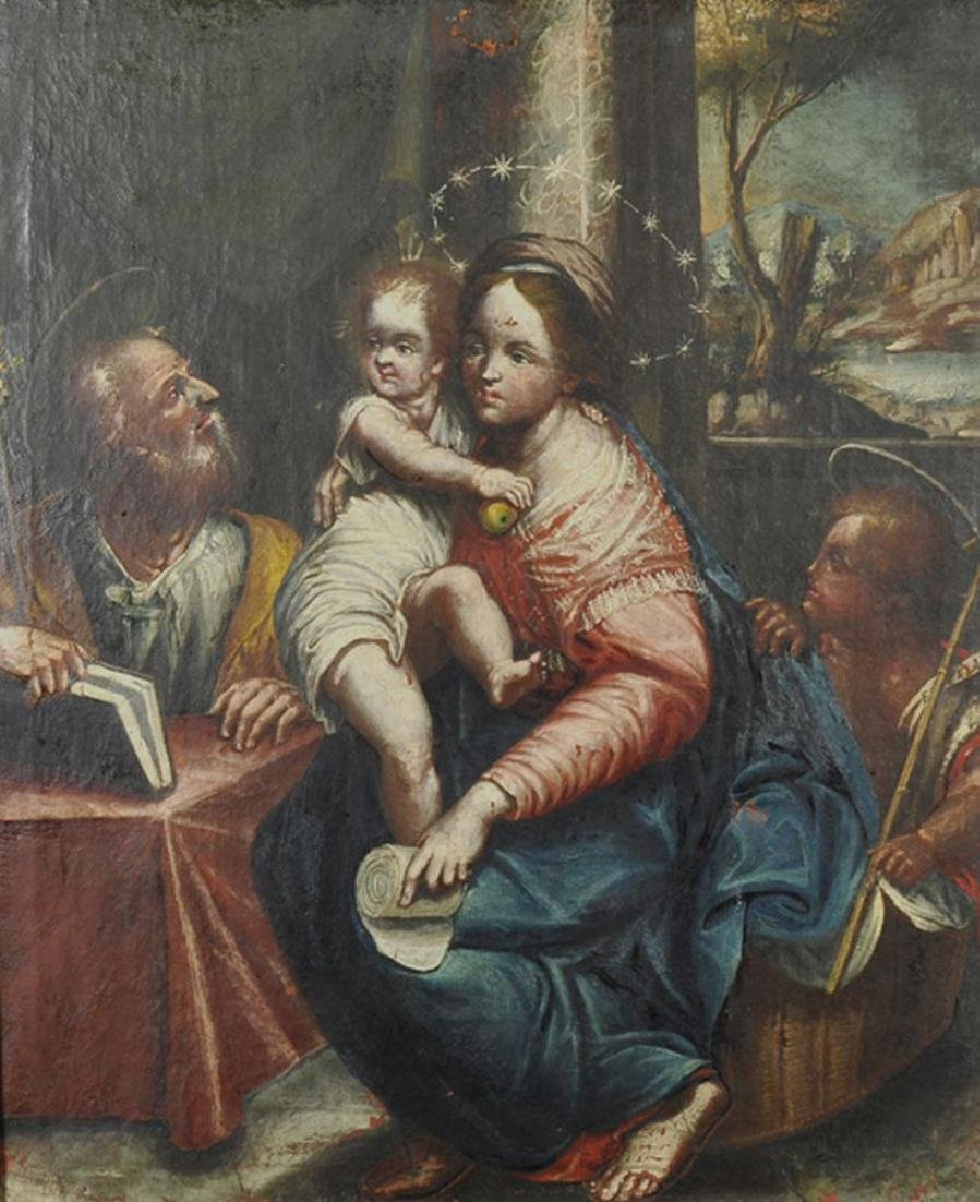 17th Century Italian School. The Madonna and Child,
