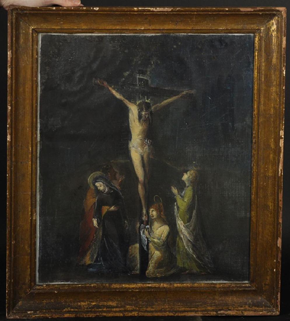20th Century Italian School. Christ on the Cross, Oil - 2