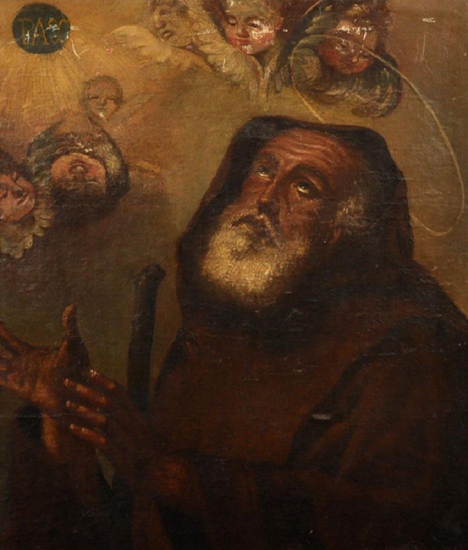 18th Century Spanish School. Study of a Monk with