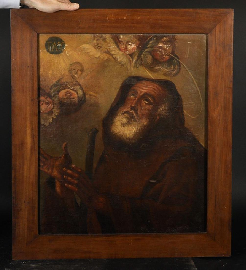 18th Century Spanish School. Study of a Monk with - 2