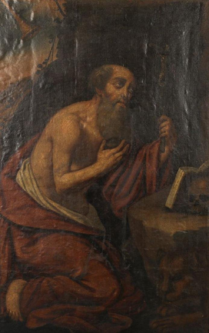 17th Century Italian School. St Jerome