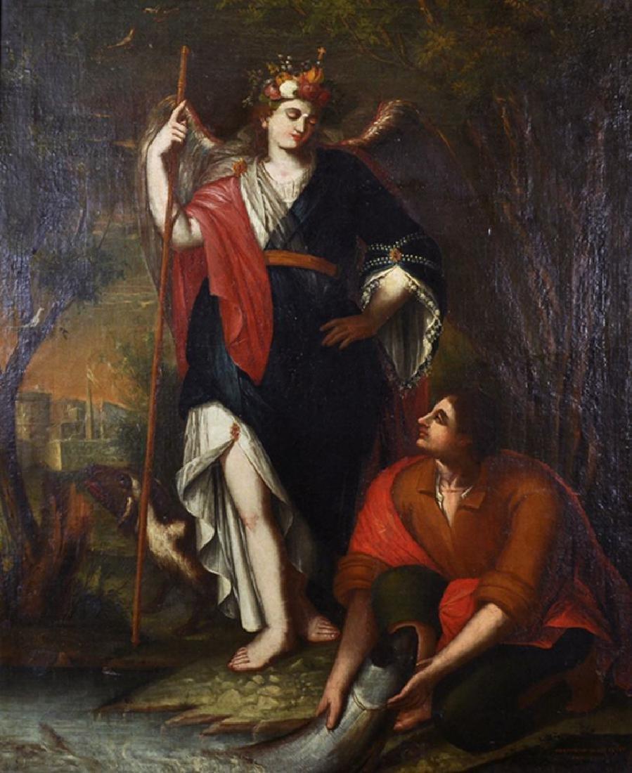 Gregorio Sanz (1763-1843) Spanish. Tobias and the