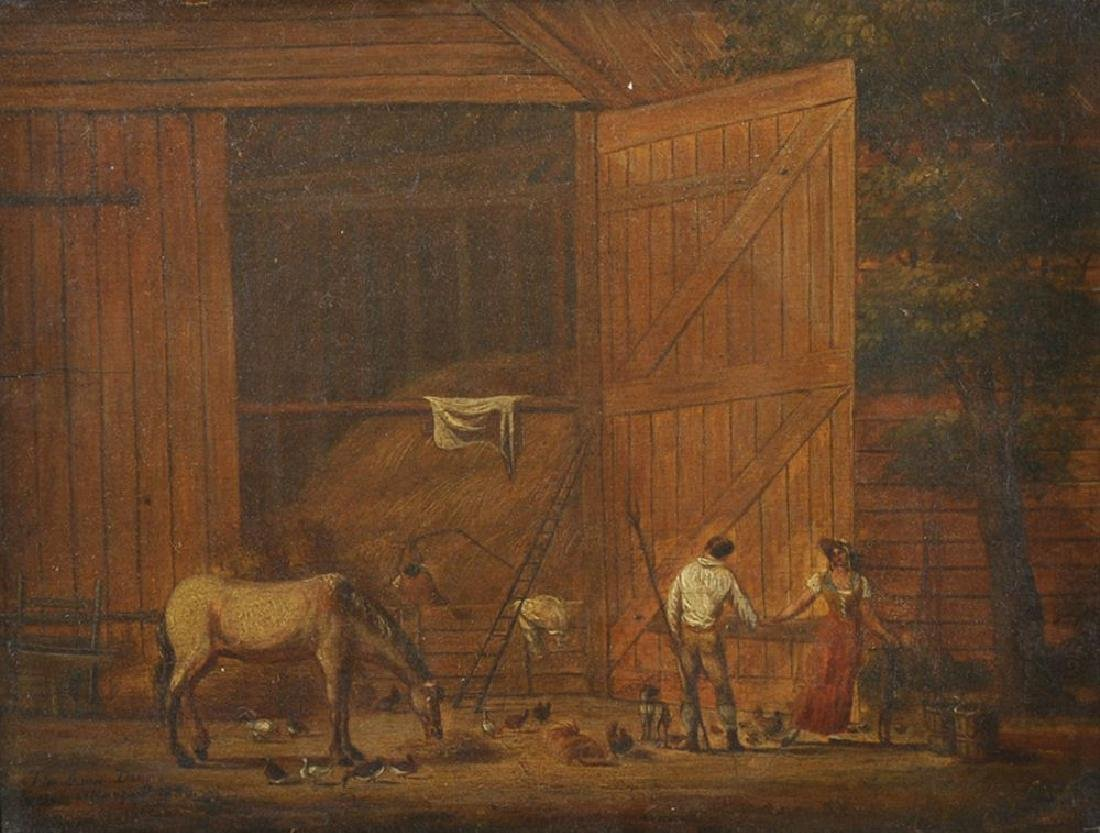 "George Norbury Allsop (1811-?) British. ""The Barn"