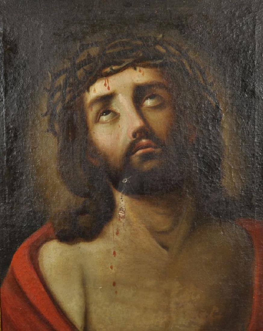 "17th Century Italian School. ""Ecce Homo"", Christ with a"