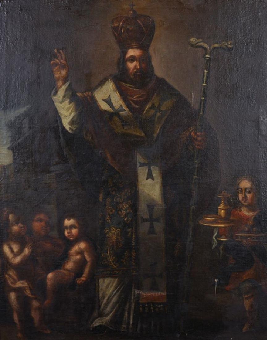 17th Century Spanish School. Study of a Priest,