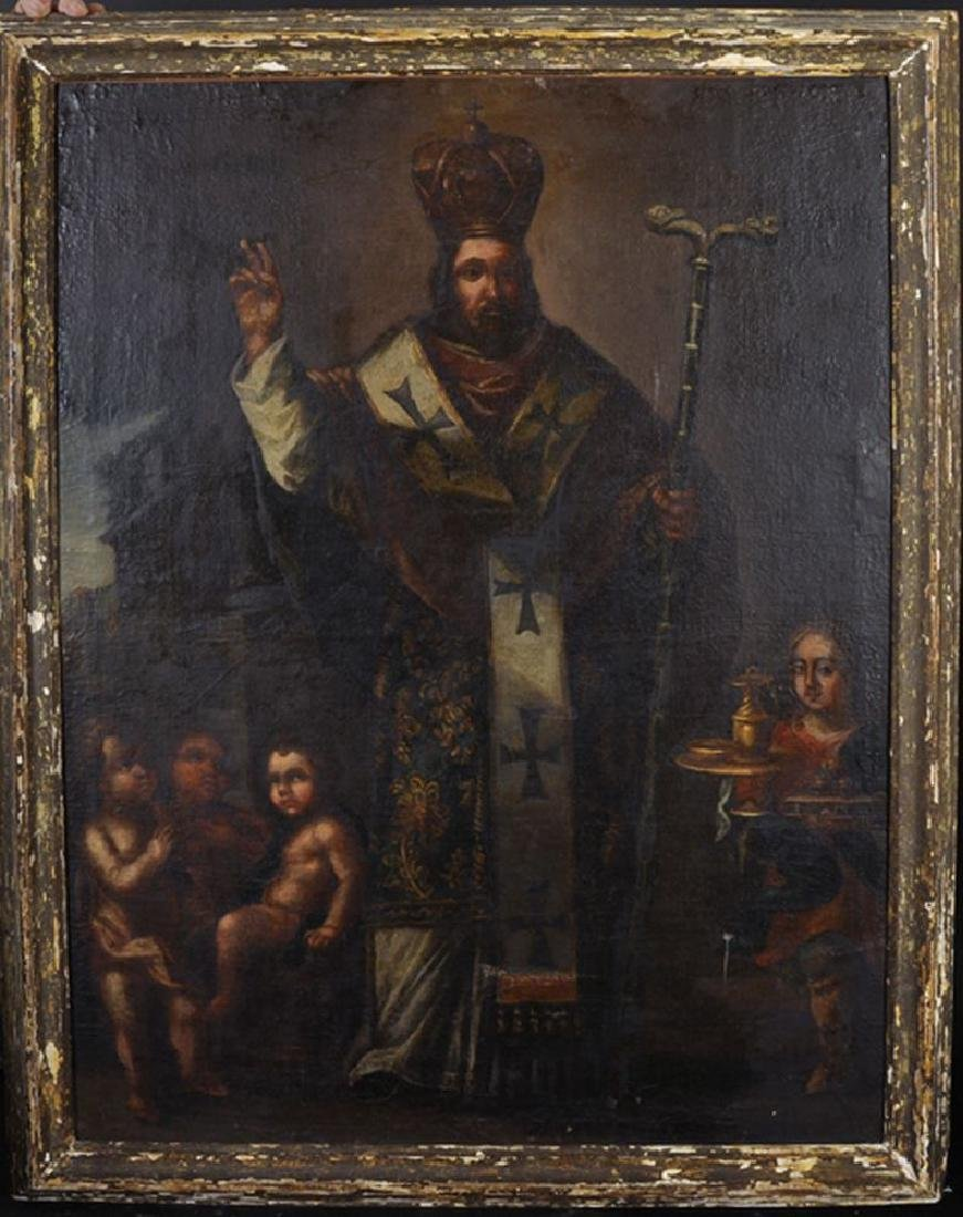 17th Century Spanish School. Study of a Priest, - 2