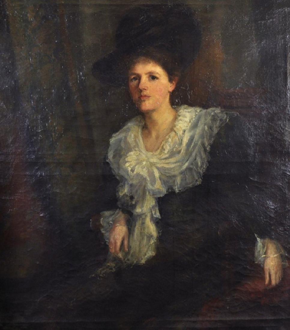 """19th Century English School. A Portrait of """"Ethol A"""