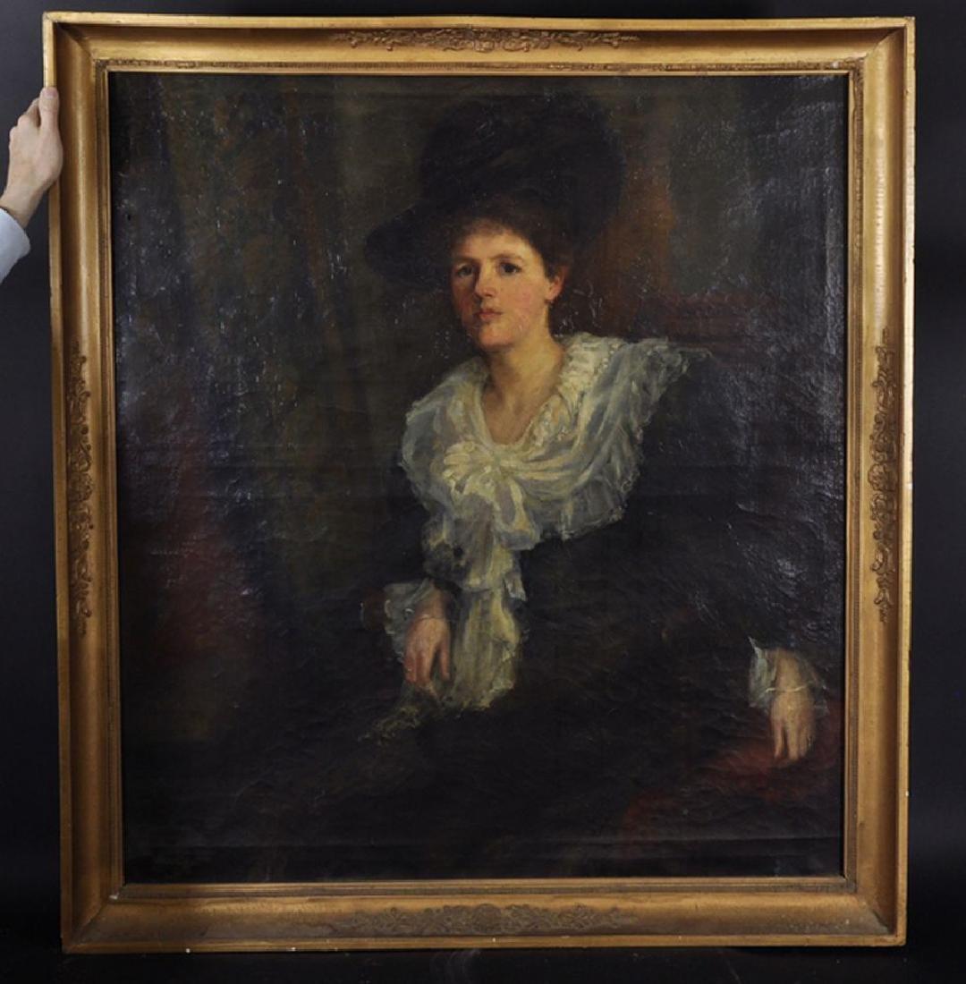 """19th Century English School. A Portrait of """"Ethol A - 2"""