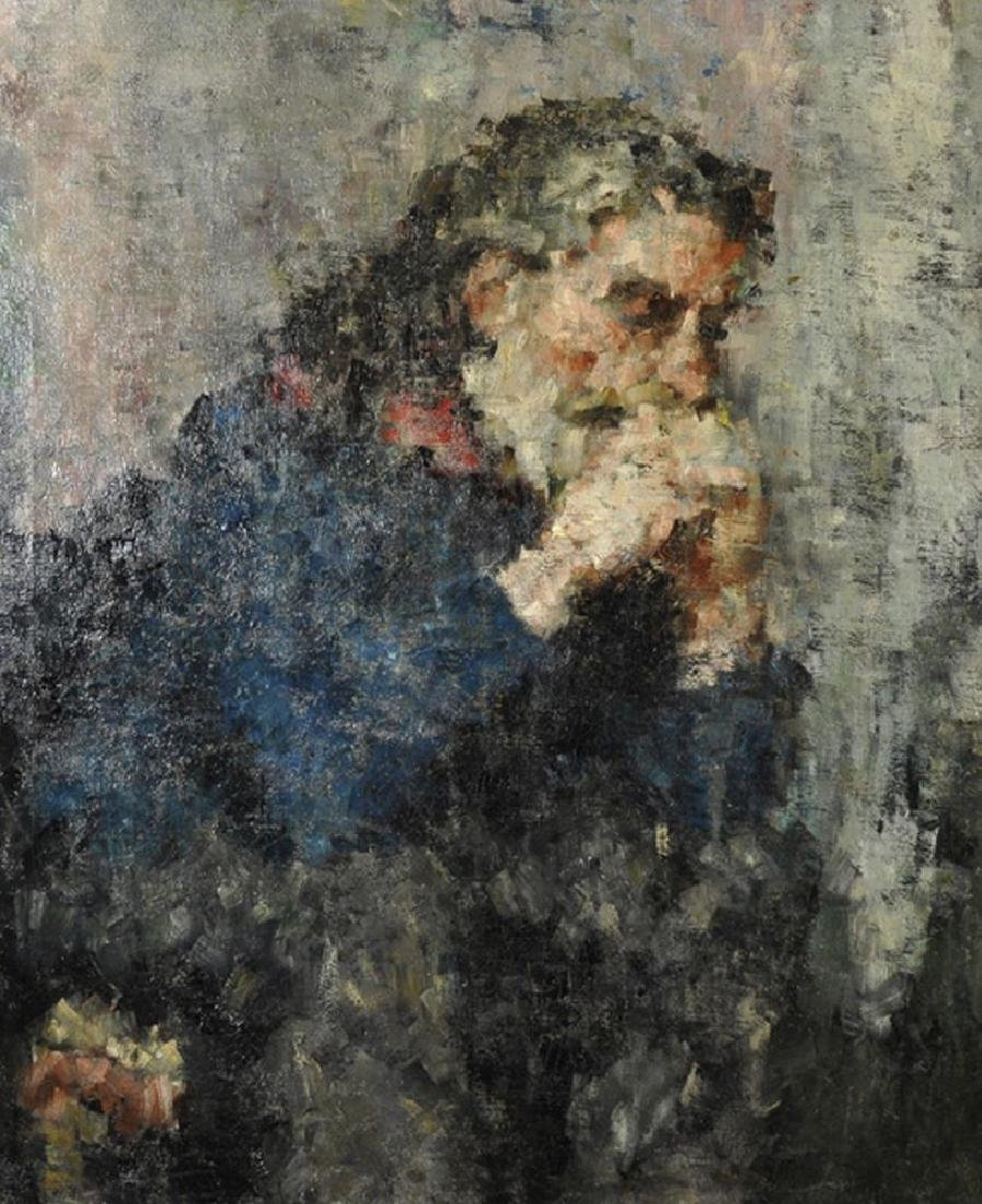 20th Century English School. Portrait of a Bearded Man,
