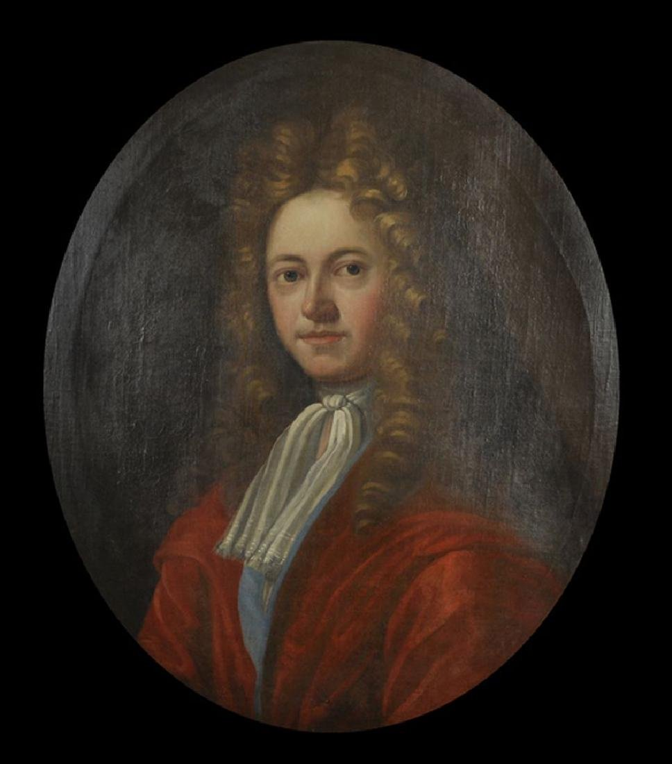 18th Century English School. Portrait of a Man, with a