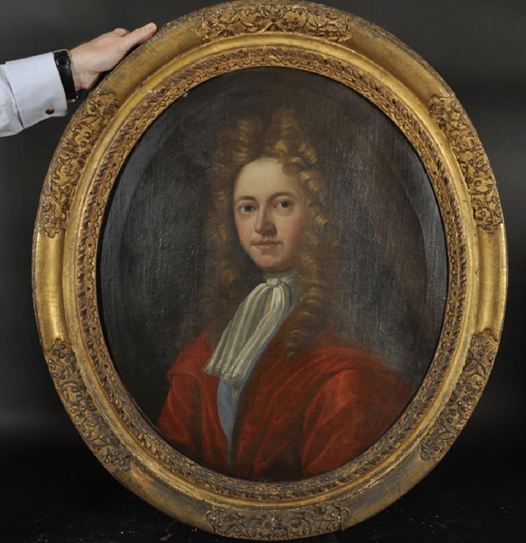 18th Century English School. Portrait of a Man, with a - 2