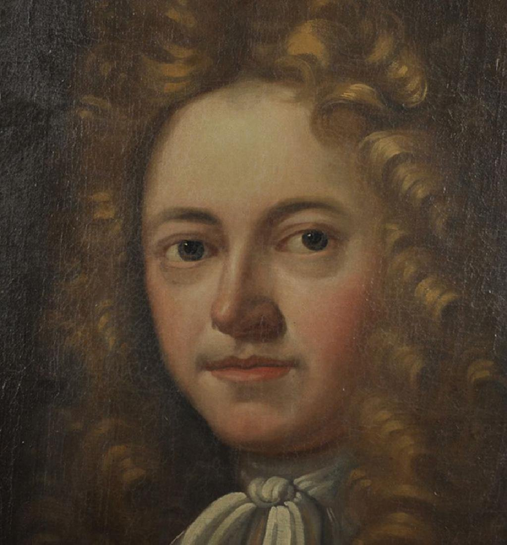 18th Century English School. Portrait of a Man, with a - 3